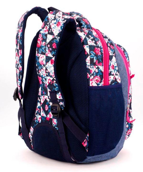 Рюкзак ортопедический 5237 цветы 40*28*20см