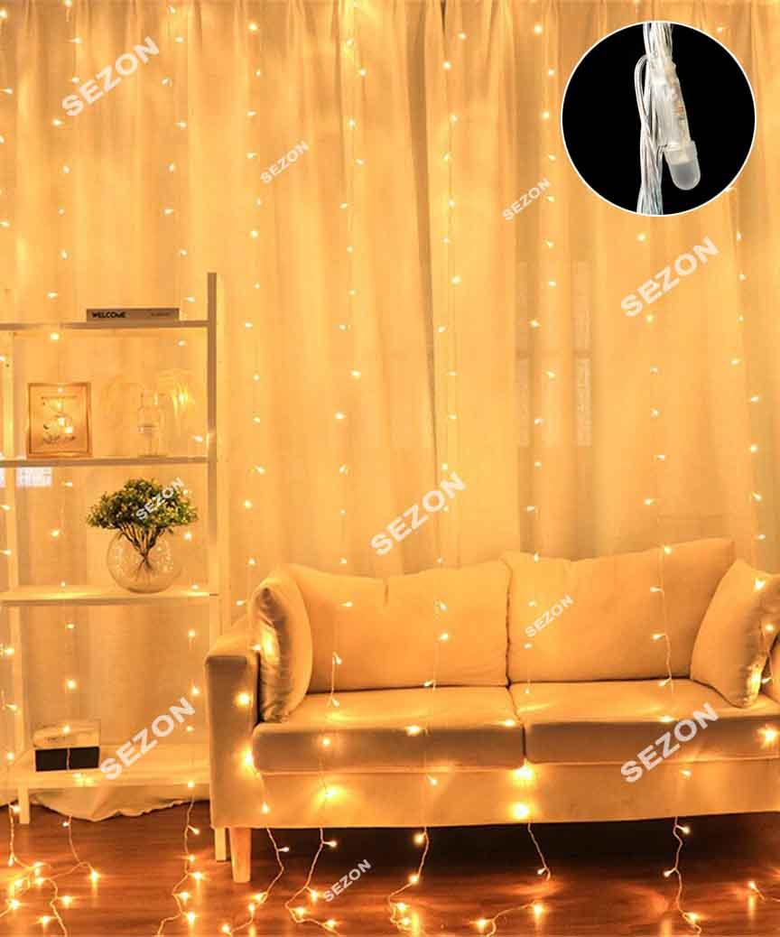 Штора-ЛІНЗА 8мм 240 LED 3м*1.2м, білий теплий