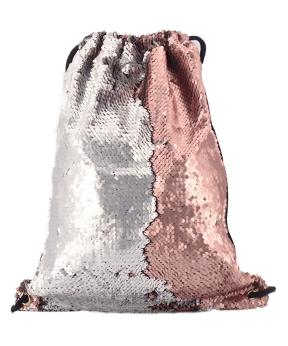 Купить Сумка для обуви 10034 паетки (серебро/персик) 40*29см