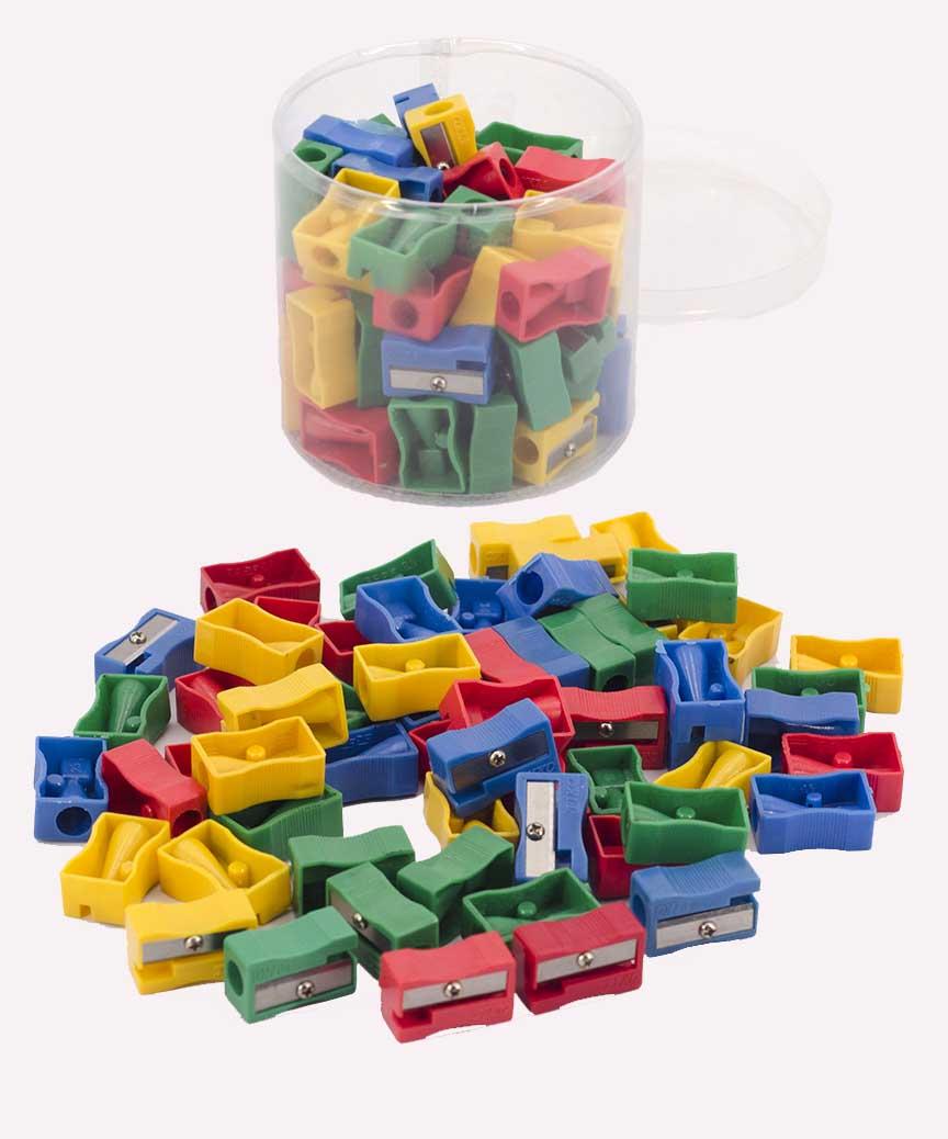 Точилка пластиковая цветная