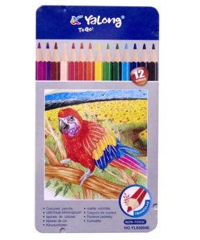 Купить Карандаши 12 цветов  метал/упак.  YL 830046-12