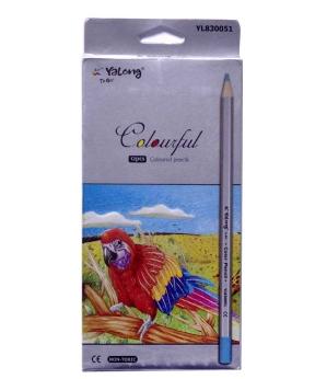 Купить Карандаши 12 цветов картон/упак YL 830051-12