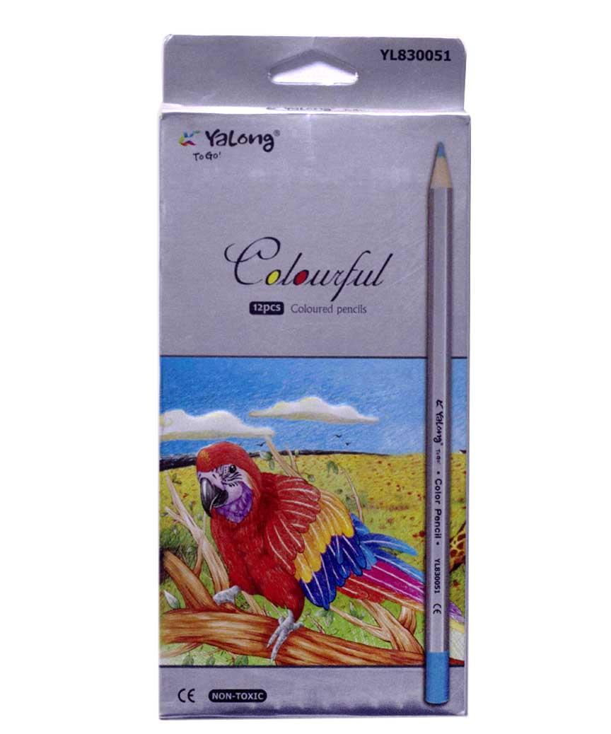 Карандаши 12 цветов картон/упак YL 830051-12
