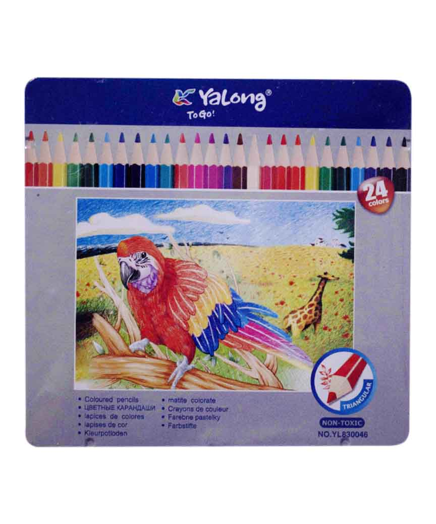 Карандаши  24 цвета метал/упак. YL 830046-24