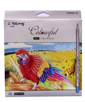 Купить Карандаши 24 цвета картон/упак YL 830051-24