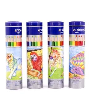 Купить Карандаши 12 цветов метал/тубус  YL 830043-12