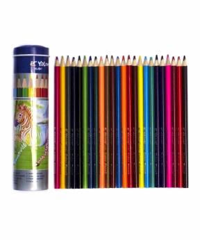 Купить Карандаши 24 цвета, метал/тубус YL 830043-24