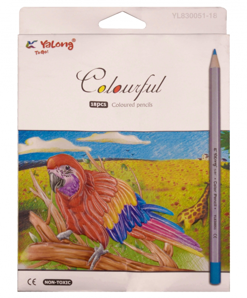 Карандаши 18 цветов картон/упак YL 830051-18