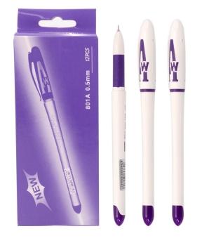 Купить Ручка гелевая   801, фиолетовая