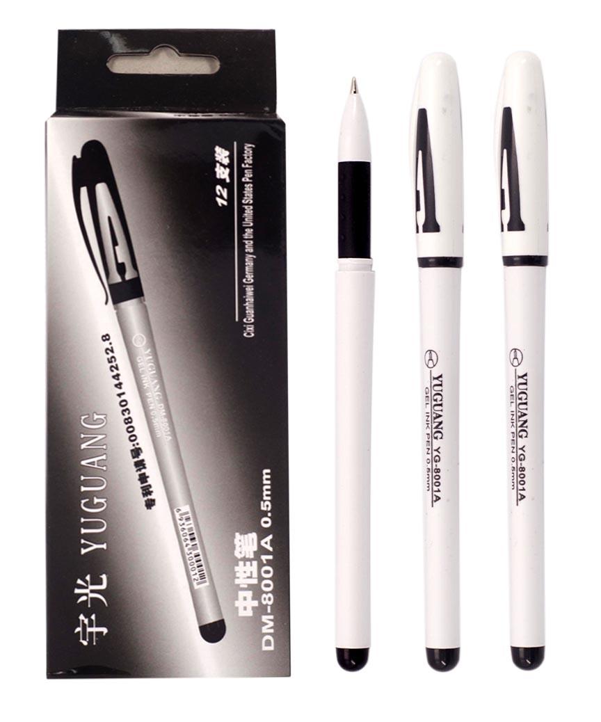 Ручка гелевая   801, черная