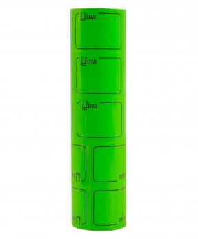 Купить Ценник с рамкой  38*28мм,  2м  зеленый (5шт/уп) Т-17