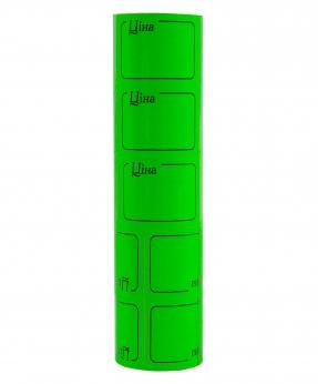 Купить Ценник с рамкой  38*28мм,  4м  зеленый (5шт/уп) Т-22