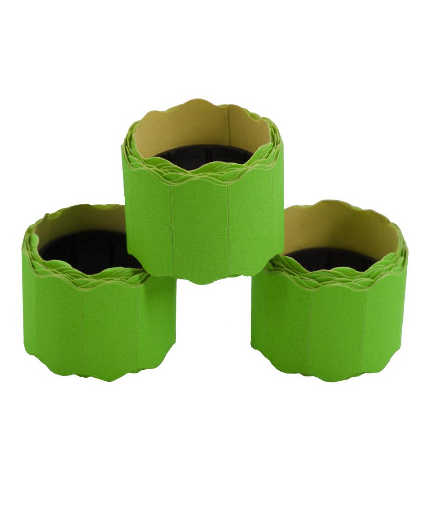 Ценник фигурный  26*12мм,  2м  зеленый (6шт/уп)