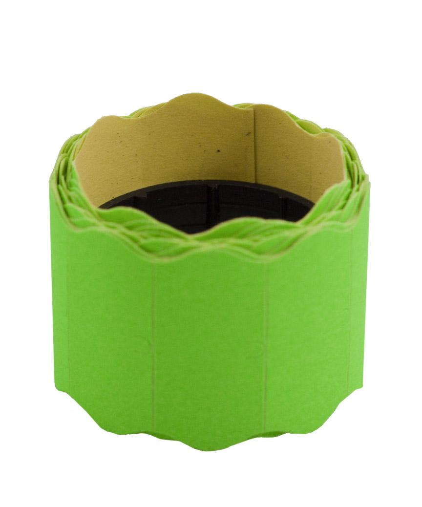 Ценник фигурный  26*12мм,  4м  зеленый  (6шт/уп)  Т-6