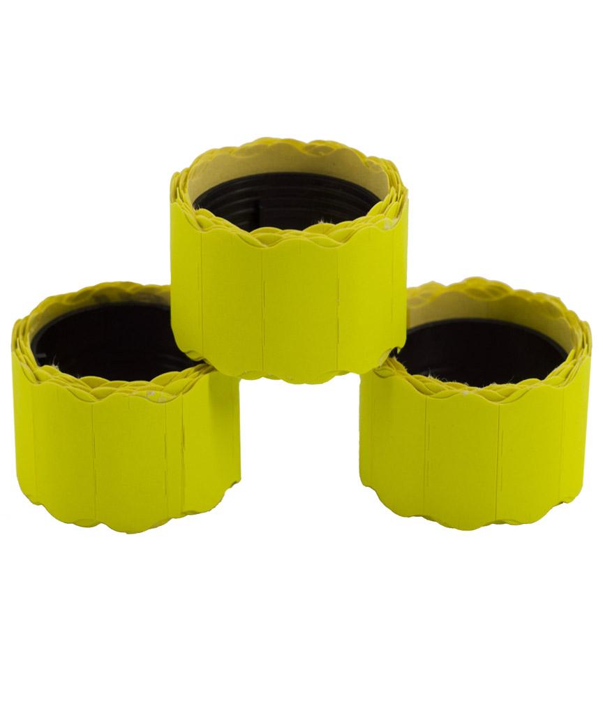 Ценник фигурный  26*12мм,  4м  желтый  (6шт/уп) Т-8