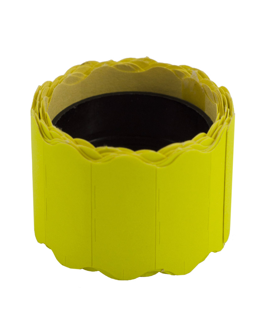 Ценник фигурный  26*12мм,  2м  желтый (6шт/уп)